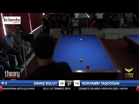 SAVAŞ BULUT & BÜNYAMİN TAŞDOĞAN Bilardo Maçı - HATAYIN ANVATANA KATILIŞ KUPASI-4. Tur