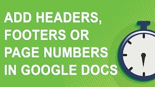 Add headers, footers, or page numbers in Google Docs (NO YOUTUBE ADS)