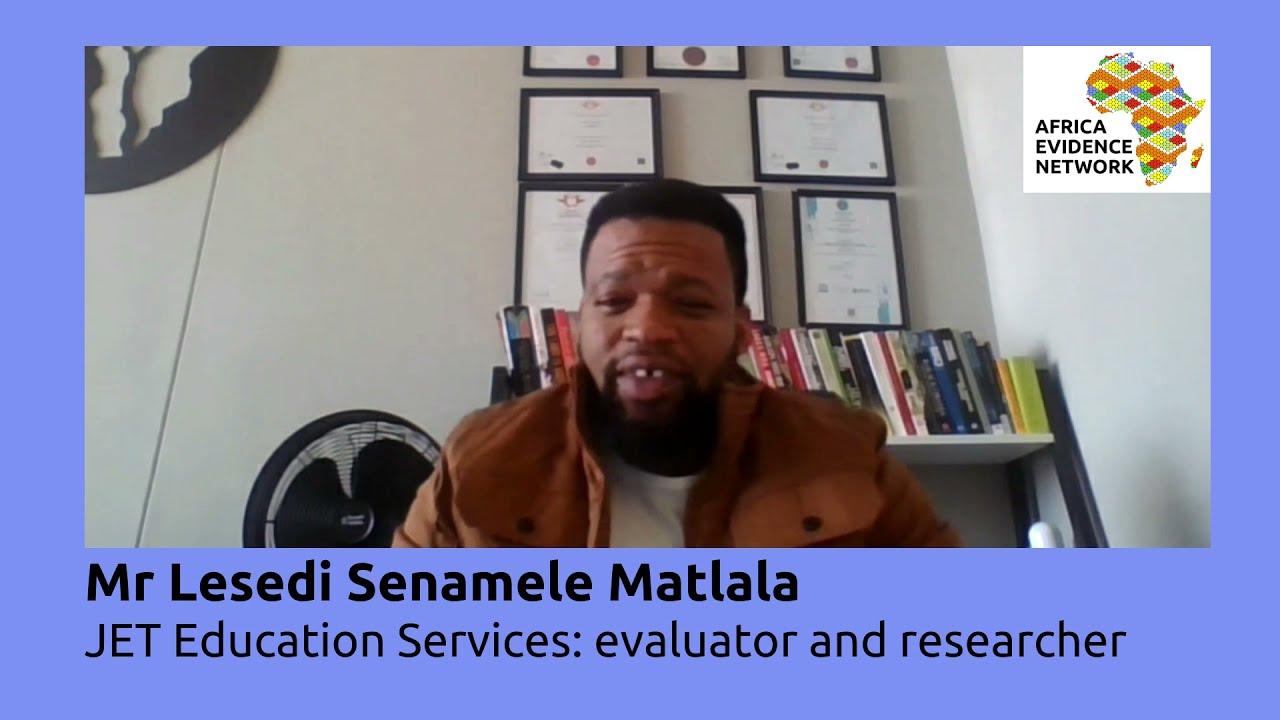 Africa Evidence Week 2021: Emerging EIDM leader_Lesedi Matlala: why I fell in love with EIDM