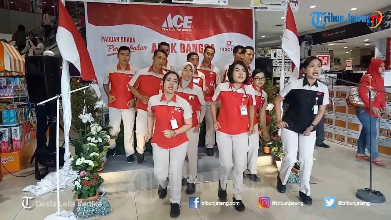 Begini Cara Pegawai Ace Hardware Semarang Sambut HUT RI Ke