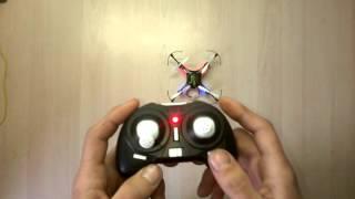 Квадрокоптер H8 Mini калибровка настройка и инструкция по управлению
