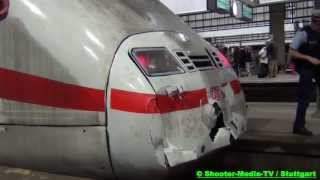 preview picture of video '[E] - ICE RUTSCHT AUF PRELLBOCK // Alarm im Hauptbahnhof Stuttgart // [EINSATZKRÄFTE RÜCKTEN AN]'