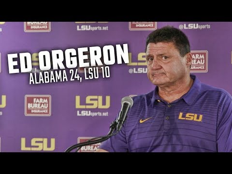 What Ed Orgeron said after LSU fell at Alabama