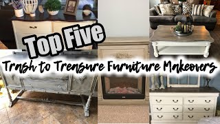 Five Thrifted And Trash To Treasure Furniture Makeovers