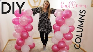 DIY Balloon Column With Stand Kit Video Tutorial! Color Decor For Birthdays Or Baby Showers