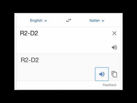 R2-D2 in Italy