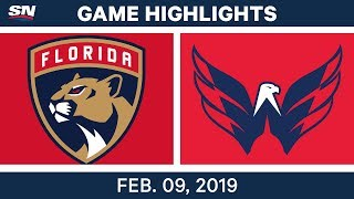 NHL Highlights | Panthers vs. Capitals - Feb 9, 2019