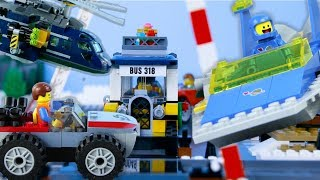 LEGO City Vehicles (COMPILATION 4) STOP MOTION LEGO Bus, Train, Helicopter | LEGO | Billy Bricks