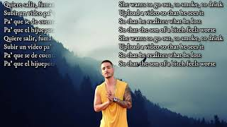 Maluma   HP ( Letra  Lyrics  English Translation)