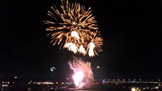 New Year 2016 Bratislava Dunaj river, official city firework, Full HD