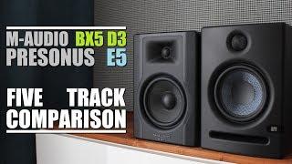 M-Audio BX5 D3 Vs Presonus Eris E5      5 Track Comparison