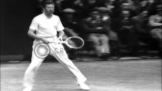 John Donald Budge Defeats  Henry Bunny Austin And Wins Wimbledon In London, Eng...HD Stock Footage