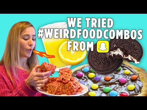 We Tried 10 of the Craziest #WeirdFoodCombos | We Tried It | Allrecipes.com