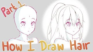 How To Draw Anime Hair | [Part 1] Outlining And Construction