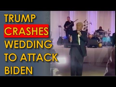 Trump CRASHES Mar-a-Lago Wedding to Attack Joe Biden in unhinged speech