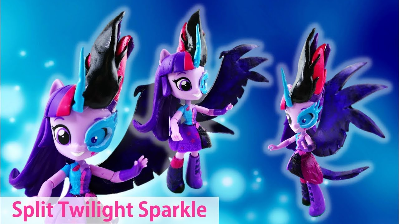 MLP Midnight Sparkle Custom Split Pony Doll Transformed Twilight Sparkle Equestria Girls Minis