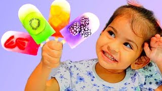 """Color Song / """"Ice Pops"""" / Action Song with Fruit Ice Cream Popsicles / Nursery Rhymes & Kids Songs"""