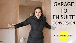 Garage Conversion To En Suite: Studded Walls | The Carpenters Daughter