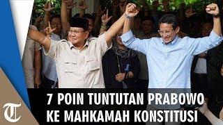 7 Poin Tuntutan Paslon 02 ke MK: Menetapkan Prabowo Jadi Presiden atau Pemilu Ulang