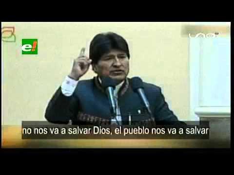 Evo Morales: No será Dios quien salve a Venezuela porque del Cielo solo cae Lluvia