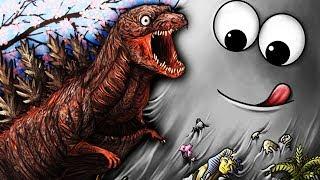 СЪЕДОБНАЯ ПЛАНЕТА! Слизень БОБ съел ГОДЗИЛЛУ Мульт игра про голодного слизня Tasty Planet