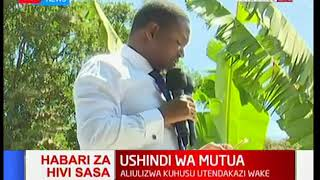 Governor Alfred Mutua's speech after his election was upheld