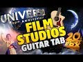 TOP 5 Movie Company Intros (Fingerstyle Cover On Acoustic Guitar with TAB)