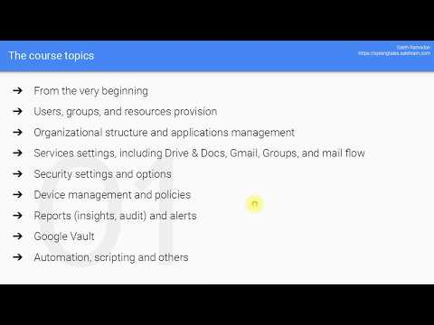 Get Full G Suite Administrator Training Course - YouTube