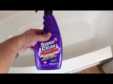 Cleaning Bathtub With Super Clean Foaming Cleaner Product Review