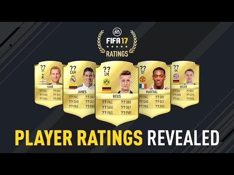 FIFA 17 Player Ratings Revealed - James, Reus, Neuer, Kane, Martial