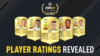 FIFA 17 Player Ratings Revealed - James, Reus, Neuer, Kane, Martial
