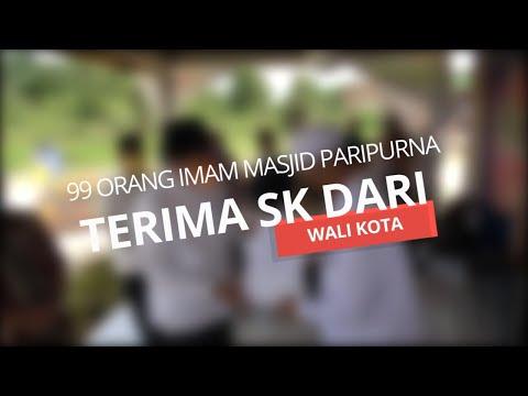 99 Orang Imam Masjid Paripurna Terima SK dari Walikota