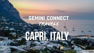 Capri Island, Italy By Aerial Drone