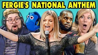 ADULTS REACT TO FERGIE'S NATIONAL ANTHEM (Memes and Performance!)
