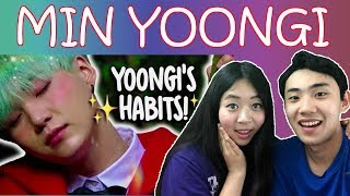 Couple Reacts To: BTS Min Yoongi's Habits Reaction