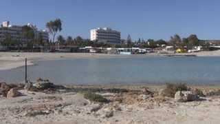 preview picture of video 'AYIA NAPA, #1 Nissi Beach, CYPRUS (March 2010)'