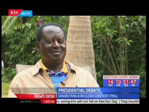 Presidential debate: Raila Odinga gives conditions