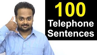 Learn Telephone English - 100 Sentences You Can Use on the Phone   How to Talk on the Phone