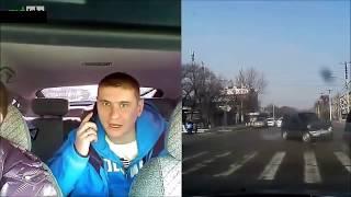 Страшные аварии и ДТП на видео регистратор,направленный внутрь салона ! Лица попавших в аварию!