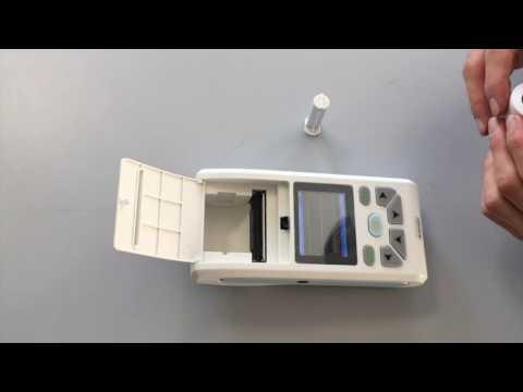Come sostiuire la carta termica nella stampante integrata dell'Ecg 90 A