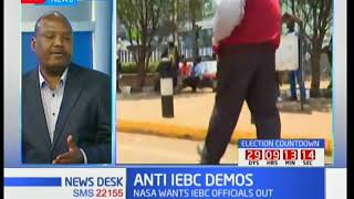 Protests by NASA seeking the removal of top IEBC