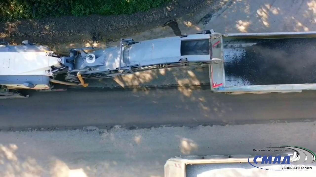Початок роботи з поточного середнього ремонту дороги О-02-03-01 Вінниця-Гнівань-Тиврів
