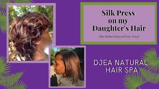 Silk Press on Natural Hair | Mother-Daughter Bonding | Quarantine Style