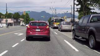 Vancouver BC Canada in Summer - June 2017 - Driving on Nanaimo Street