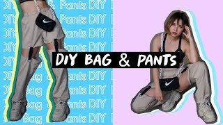 Thrift Flip DIY Hacks:  NIKE BAG & BUCKLE PANTS | Aboutzoelee