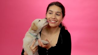 Alessia Cara Plays With Puppies While Answering Fan Questions