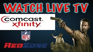 How To Watch Live TV On PC Using Comcast Xfinity Account (How To Watch RedZone On PC With Comcast)