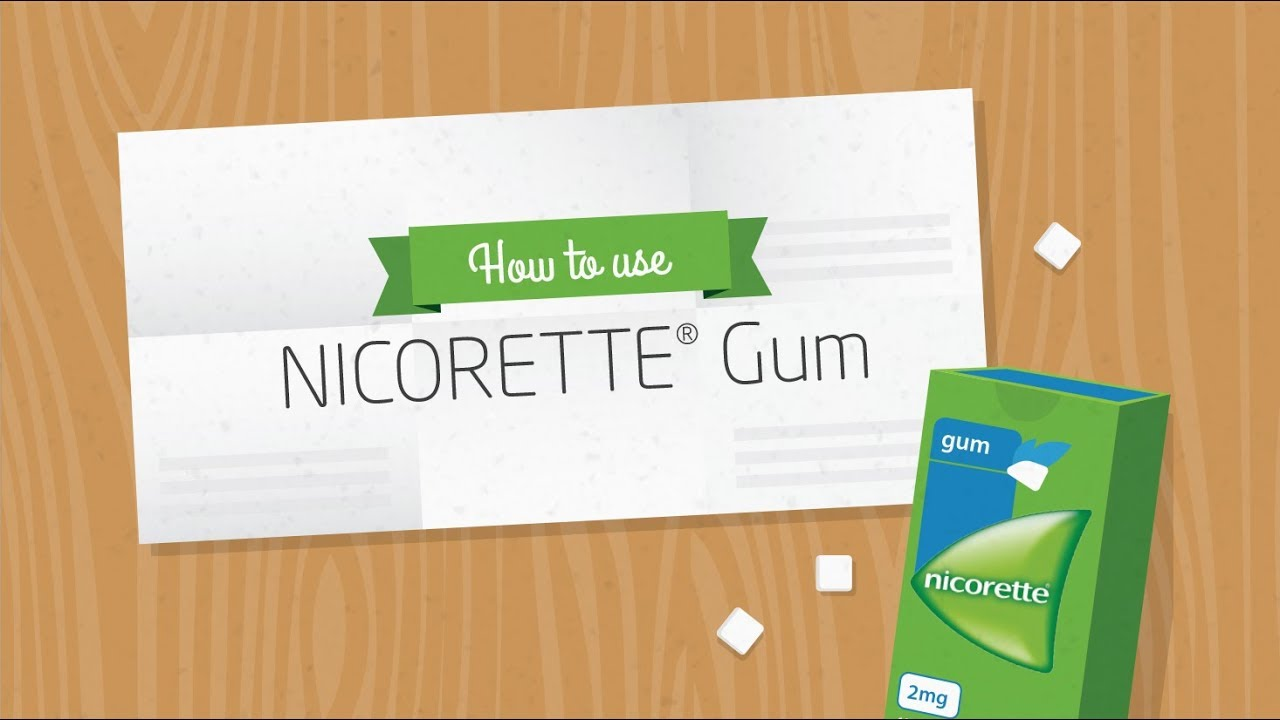 Nicotine gums: concentrations and instructions for use