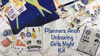 Planners Anonymous Unboxing and Walkthrough - Girls Night