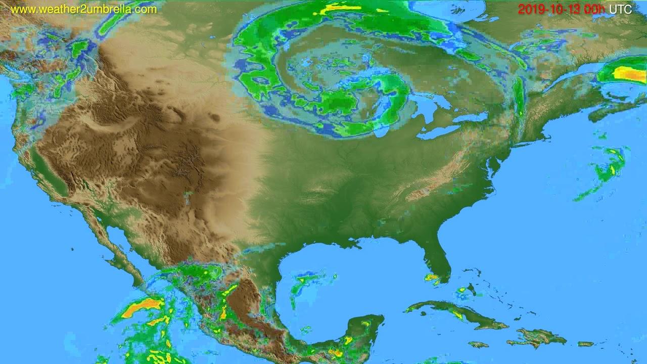 Radar forecast USA & Canada // modelrun: 12h UTC 2019-10-12